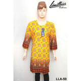 Limitless Fashion Printed Cotton Lawn Stitched Kurti for Girls & Women in Large - LLA-50