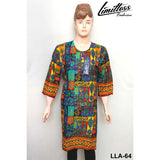 Limitless Fashion Printed Cotton Lawn Stitched Kurti for Girls & Women in Large - LLA-64