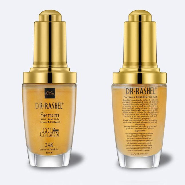 Dr.Rashel Serum with Real Gold Atoms & Collagen 24K Precious Youthful –  Limitlesswow