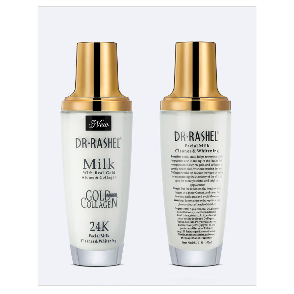 Dr.Rashel Milk with Real Gold Atoms & Collagen 24K Facial Milk Cleaner –  Limitlesswow