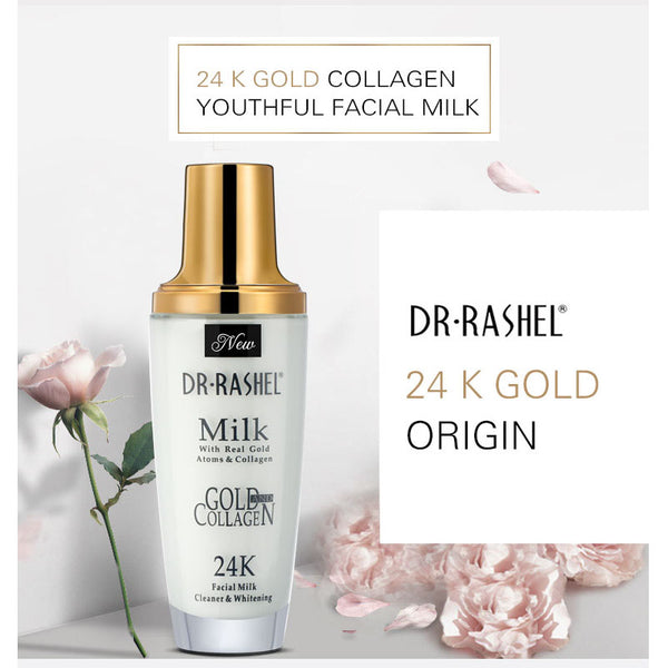 Dr.Rashel Milk with Real Gold Atoms & Collagen 24K Facial Milk Cleaner & Whitener