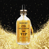 Dr.Rashel Gold Serum 99.9% VIP All In One Pure Gold - 50ml + Bene Tint Rose-Tinted Lip And Cheek Stain Pack of 2