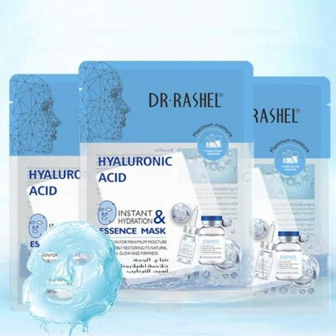 Dr.Rashel Hyaluronic Acid Instant Hydration & Essence Mask - 5Pcs
