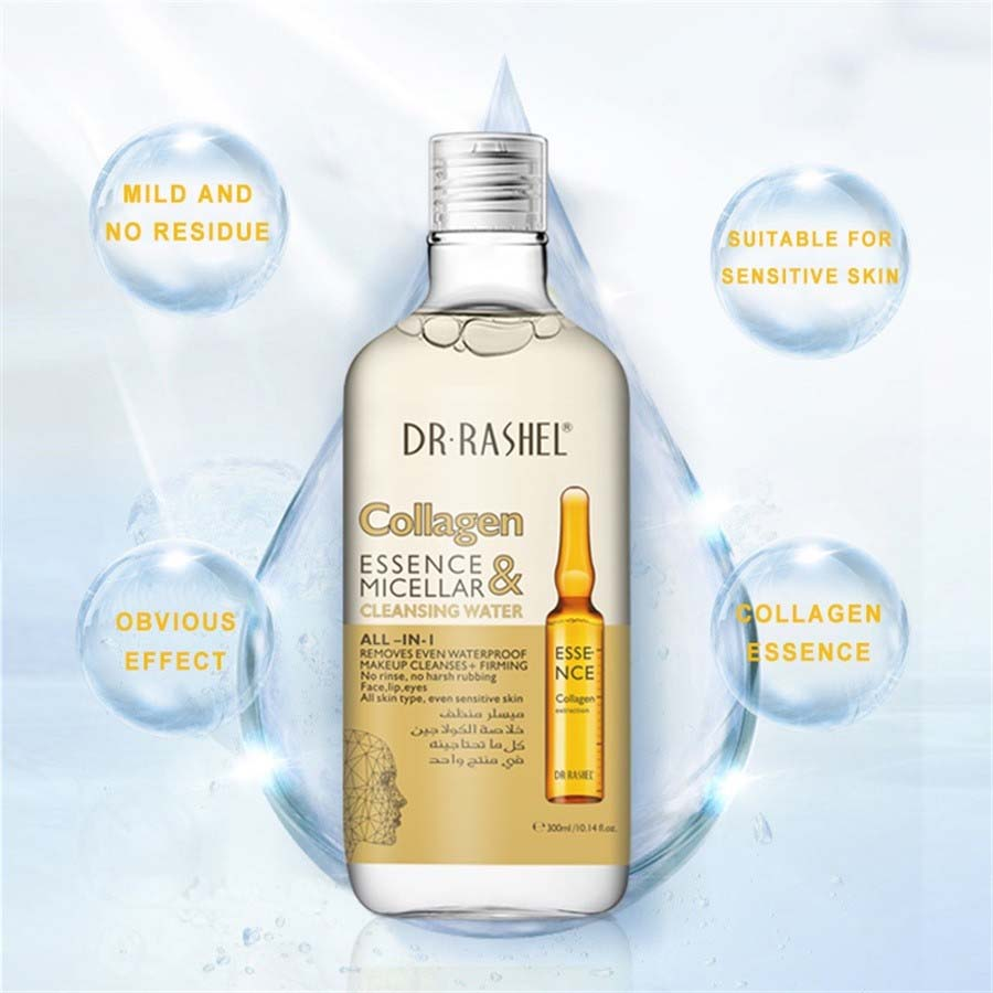 Dr.Rashel Collagen Essence & Micellar Cleansing Water All in 1 - 300ml –  Limitlesswow