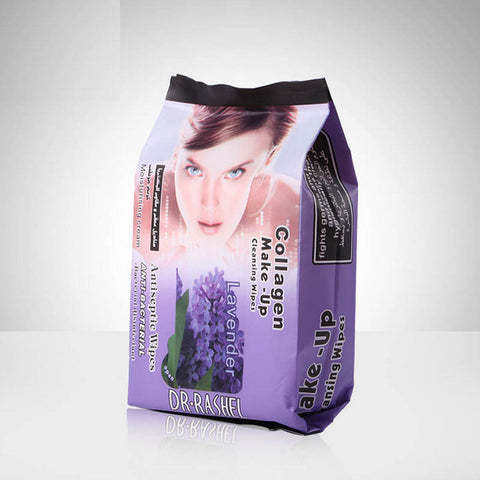 Dr.Rashel Collagen Make up Cleansing, Antiseptic & Anti Bacterial Wipes with Lavender Extract