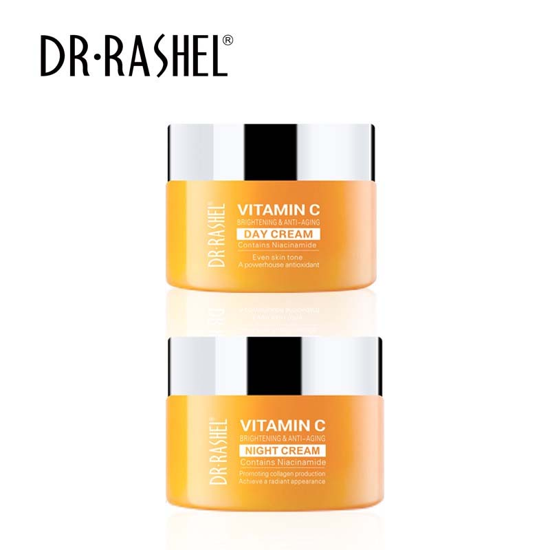 Dr.Rashel Vitamin C Day Cream + Night Cream - Pack of 2