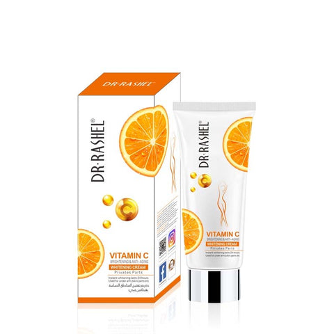 Dr.Rashel Vitamin C Brightening & Anti Aging Whitening Cream for Private Body Parts for Girls & Women - 80ml