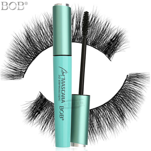 BOB 3D Stereoscopic Mascara - Ultra Curl with Helical Brush - For Girls and Women - Black