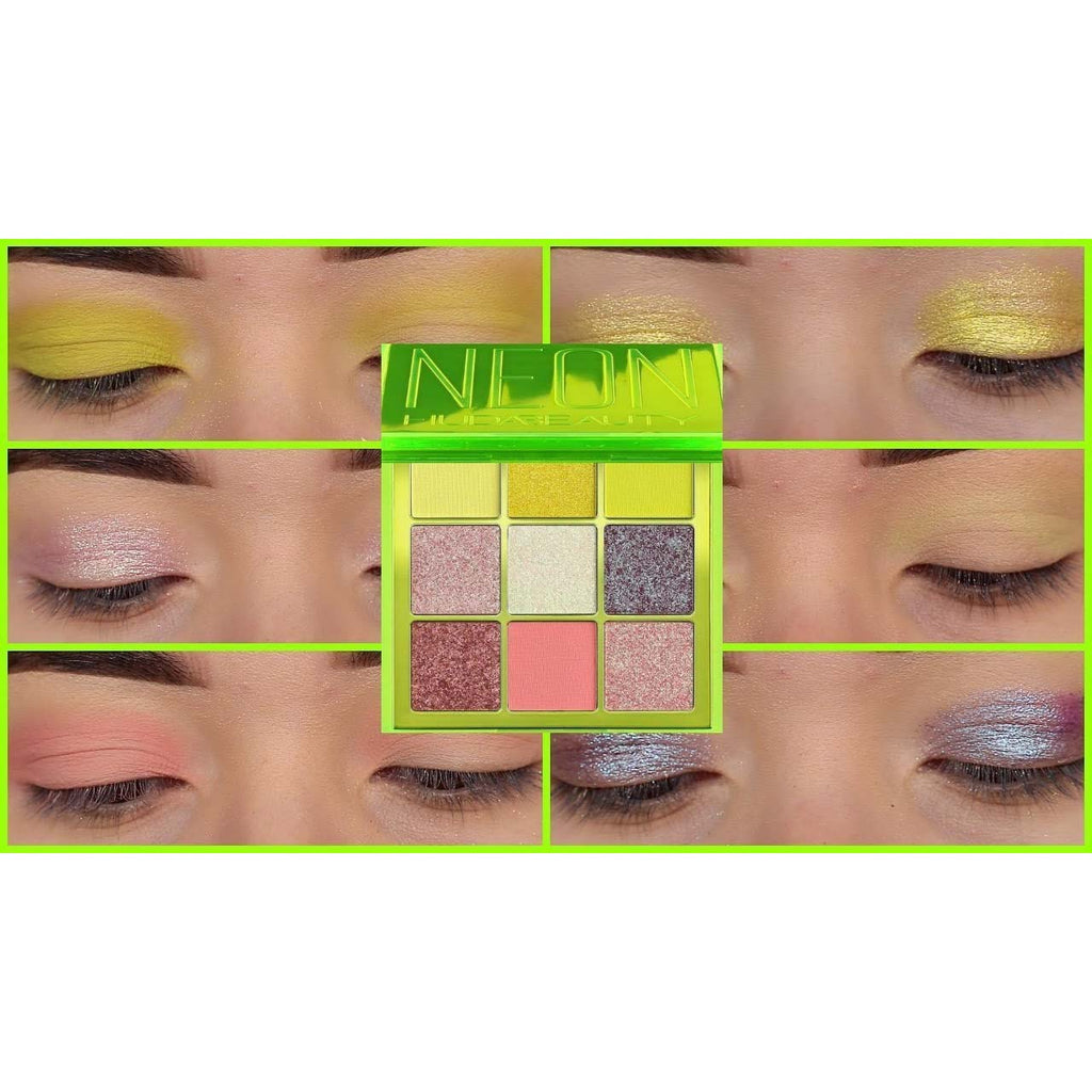 Huda Beauty Pressed Pigment Palette Neon Green Obsessions