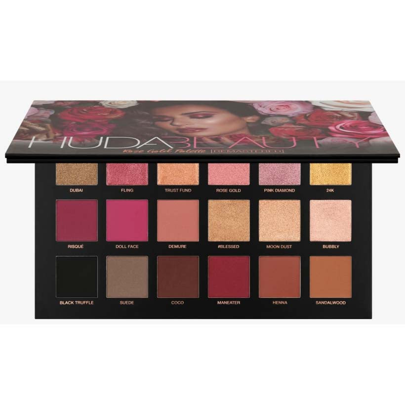 Huda Beauty Rose Gold Palette REMASTERED - 18 Colors