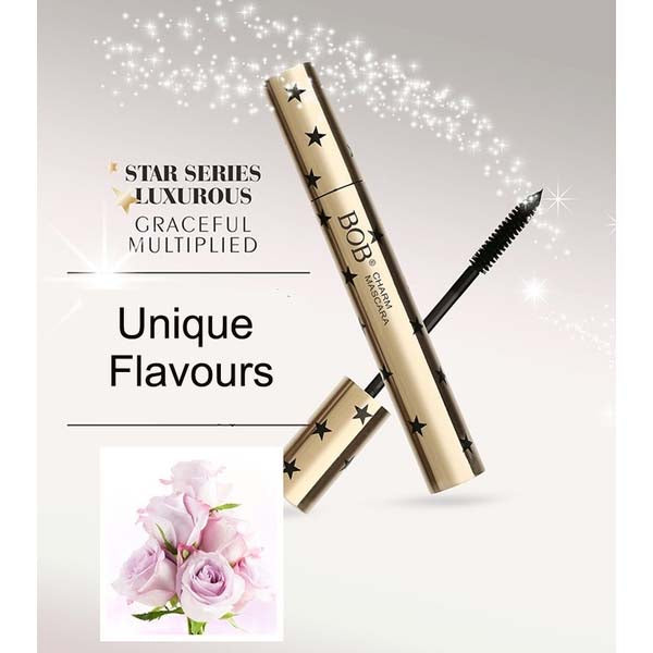 BOB Star Luxurious Flavored Charm Mascara Plump Curl Perfect For Girls and Women - Black
