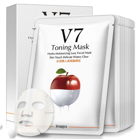 Whitening V7 Toning Mask Moisturizing Anti-aging Toning Light Facial Mask 1 box 10-Masks