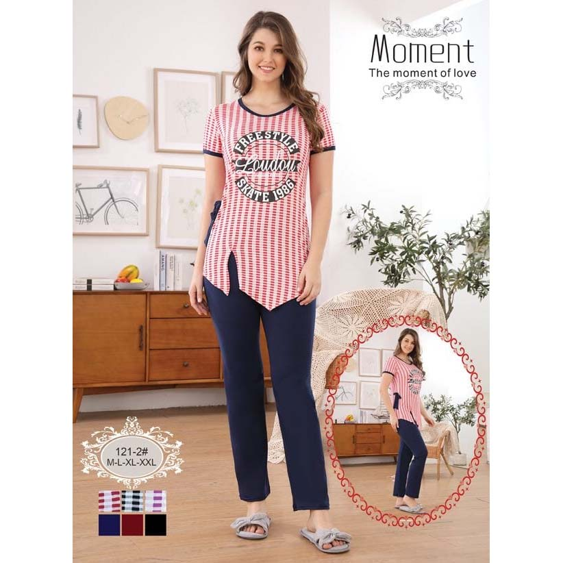Moment 2 Piece Nightwear – Elegant Shirt with Pajama for Girls & Women