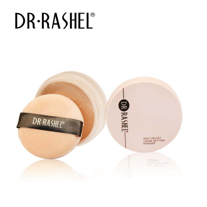 Dr.Rashel Soft Velvet Loose Setting Powder in 6 Colors for Girls & Women
