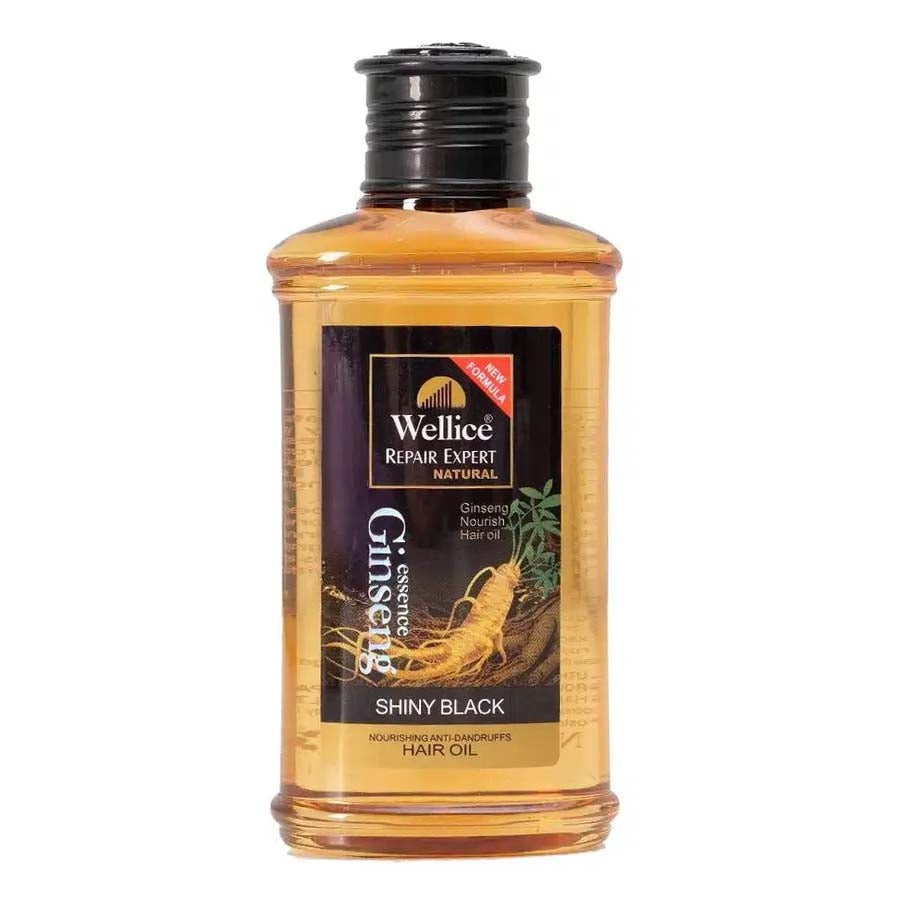 Wellice Repair Expert Natural Ginseng Nourish Shinny Black Anti Dandruff Hair Oil - 150ml