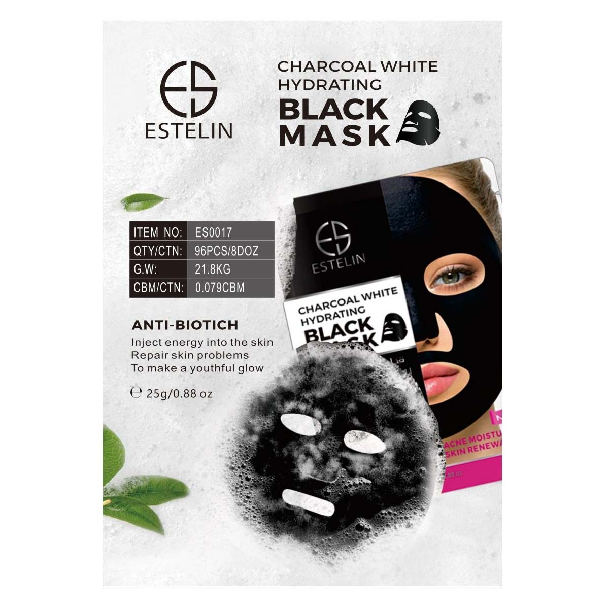 Estelin Charcoal White Hydrating Black Acne Moisturizing Skin Renewal –  Limitlesswow