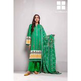 Gul Ahmed 3 Pieces Printed Lawn suit with Lawn Digital Printed Duppatta CL-763B