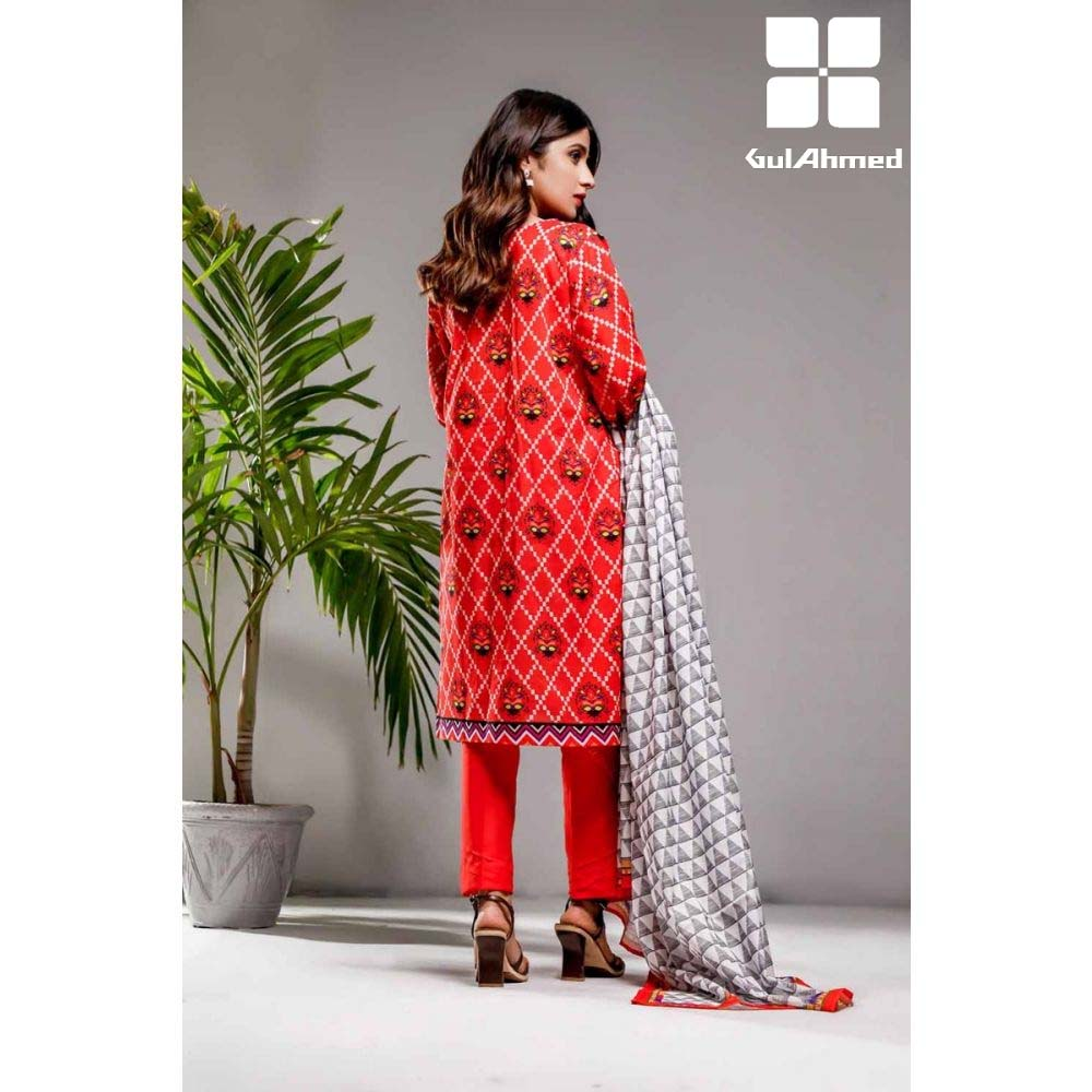 Gul Ahmed 3 Pieces Printed Lawn suit with Lawn Digital Printed Duppatta CL-862