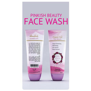 Cosmic Girl Whitening Beauty Deep Cleansing Whitening Oil Control Rose Extract Daily Face Wash 100ml