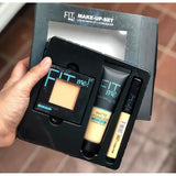 Pack of 3 Maybelline Fit Me Foundation, Pressed Face Powder & Concealer - Fair