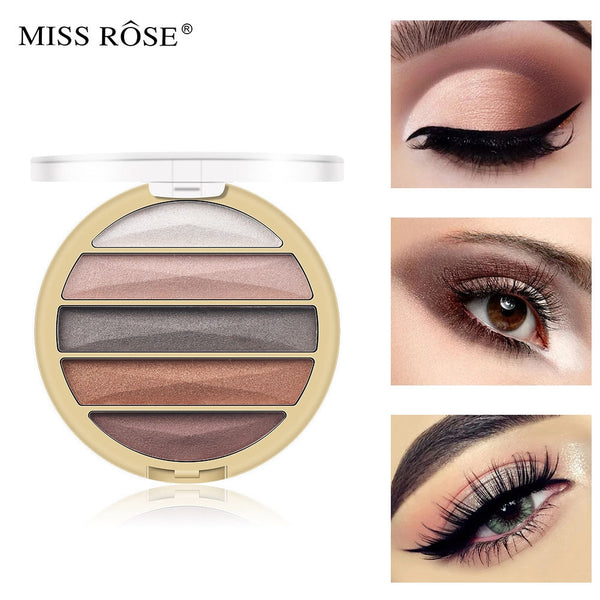 Miss Rose 5 Colors Eye Shadow Palette
