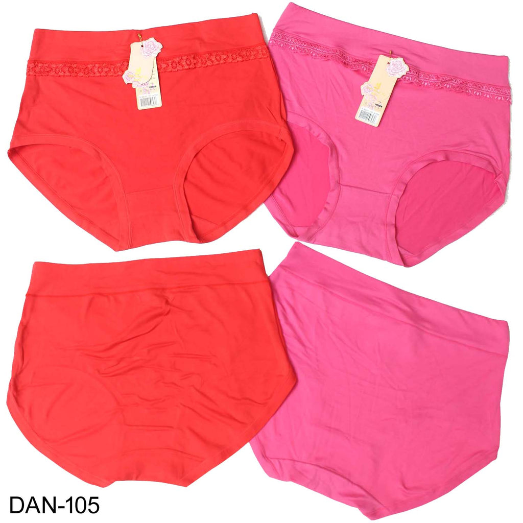 LW Comfortable & High Quality Bikni Plain Lace Panties for Girls & Women - Pack of 2 - Limitlesswow