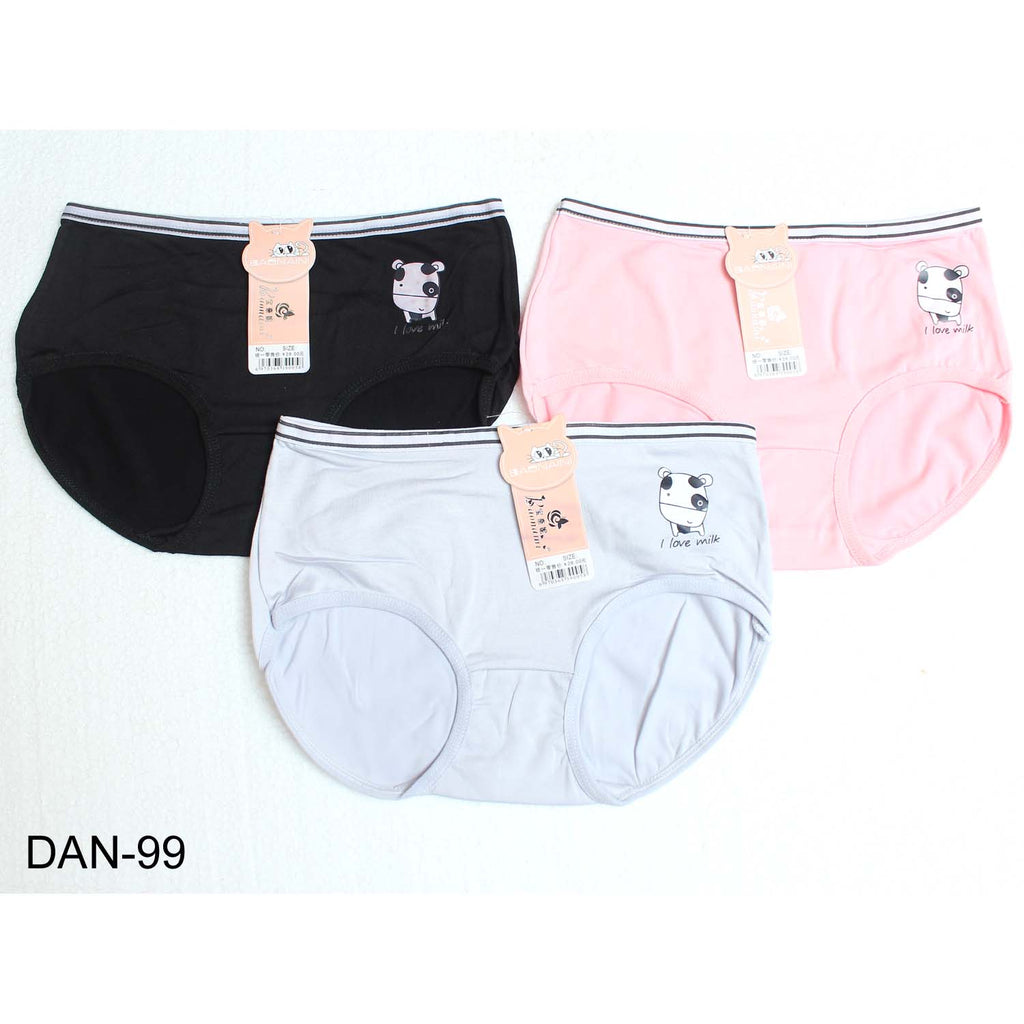 LW Comfortable & High Quality Hipsters Plain Panties for Girls & Women - Pack of 3
