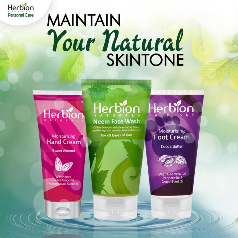 Herbion Naturals Daily routine Kit Neem Face Wash + Hand Cream + Foot Cream - Pack of 3 - Limitlesswow