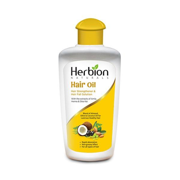 Herbion Naturals Oil for Hair Strengthen & Hair Fall Solution - 200ml - Limitlesswow
