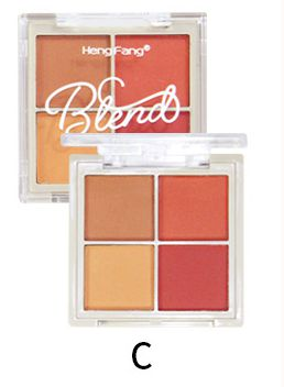 Hengfang Delicate Powder Soft Silky  4 Color Eyeshadow palette - H6556