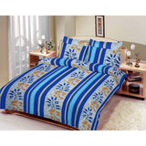 Printed Bed Sheet 100% Cotton in Double Size with 2 Pillows