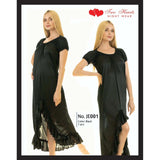 Two Hearts 1 Piece Silk Nightwear for Women & Girls