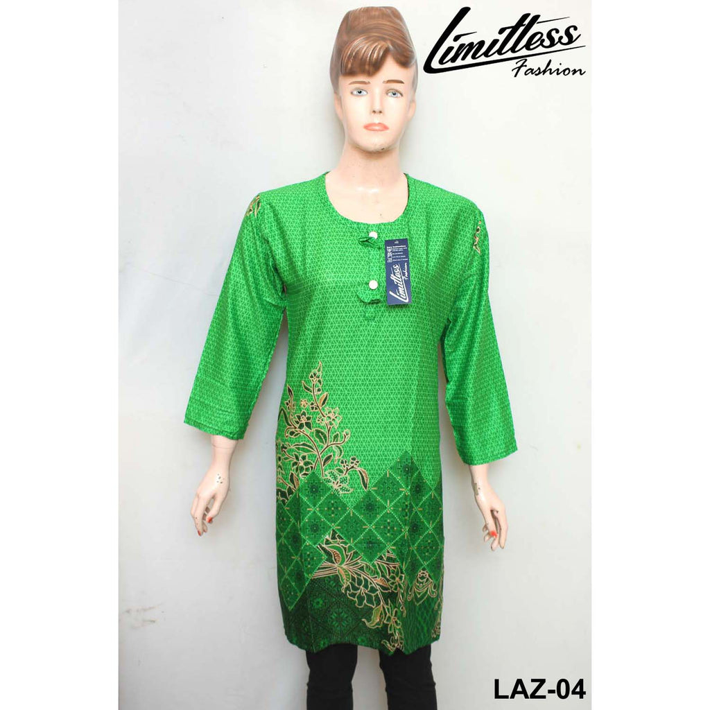 14 August Printed Cotton Lawn Stitched Kurti for Girls & Women in Medium - LAZ-04 - Limitlesswow