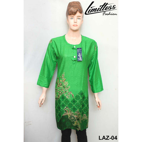 14 August Printed Cotton Lawn Stitched Kurti for Girls & Women in Medium - LAZ-04