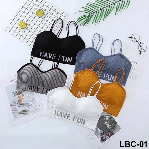 Have Fun Comfortable Sports Fashion Bra for Girls & Women - Pack of 5