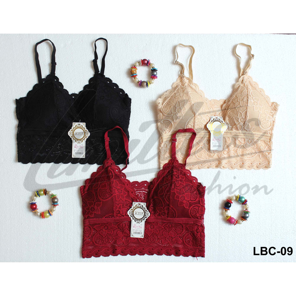Kangjiana Lace Bra Bralette Wireless Bras For Girls & Women - Pack of 3