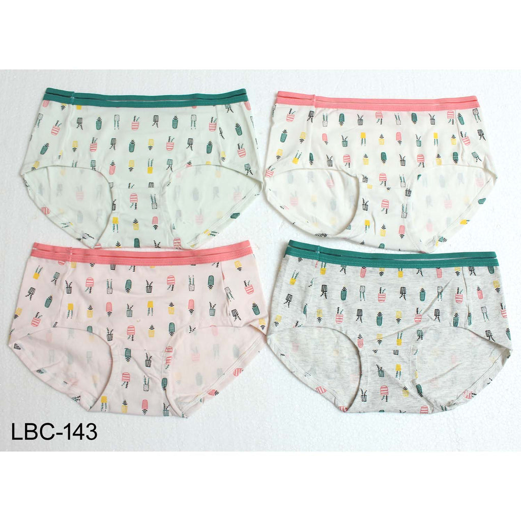 LW Comfortable High waist Printed Panties for Girls & Women - Pack of 4 - Limitlesswow