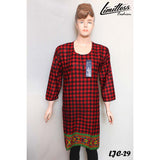 Limitless Fashion Printed Cotton Lawn Stitched Kurti for Girls & Women in Medium - LJC-29