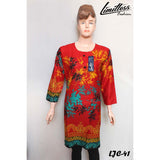 Limitless Fashion Printed Cotton Lawn Stitched Kurti for Girls & Women in Medium - LJC-41