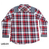 Mall Kids Double Pocket Check Shirt with contrast Trim for Boys - Limitlesswow
