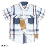 Mall Kids Double Pocket Check Shirt Half Sleeves with contrast Trim for Boys - Limitlesswow