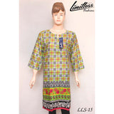 New & Latest Printed Cotton Lawn Stitched Kurti for Women in Large - LLS-15