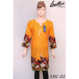 New & Latest Printed Cotton Lawn Stitched Kurti for Women in Medium - LNC-02