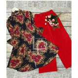 Lollypop 2 in 1 Kurti and Bootcut Trouser Set for Women & Girls - LP-028