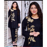 Lollypop 2 in 1 Embroidered Kurti and Trouser Set for Women & Girls - LP-029