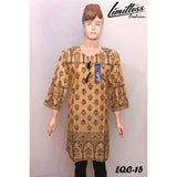 New & Latest Printed Cotton Lawn Stitched Kurti for Women in Medium - LQC-15