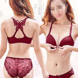 Beautiful design Fancy Ladies Front Opening Butterfly Bra Set with Sexy Bra Panty for Girls & Women
