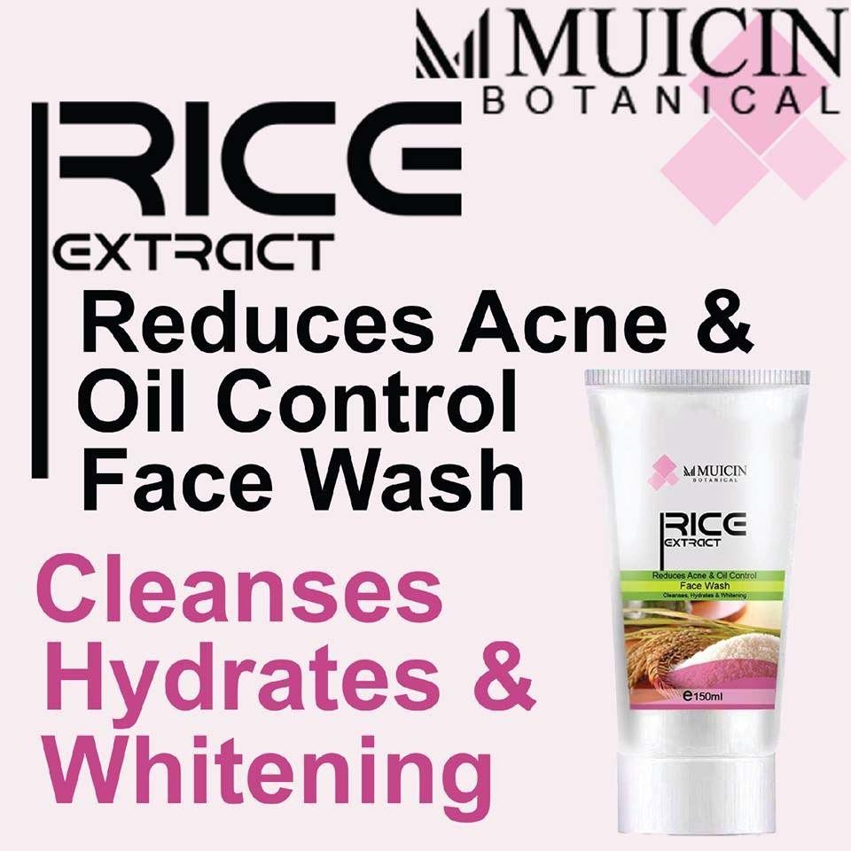 Muicin Rice Extract Reduce Acne & Oil Control Face Wash - 150ml