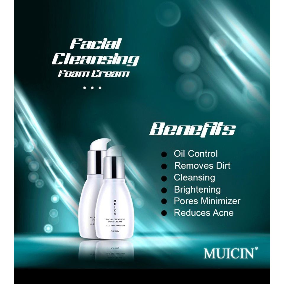 Muicin Facial Cleansing Foam Cream