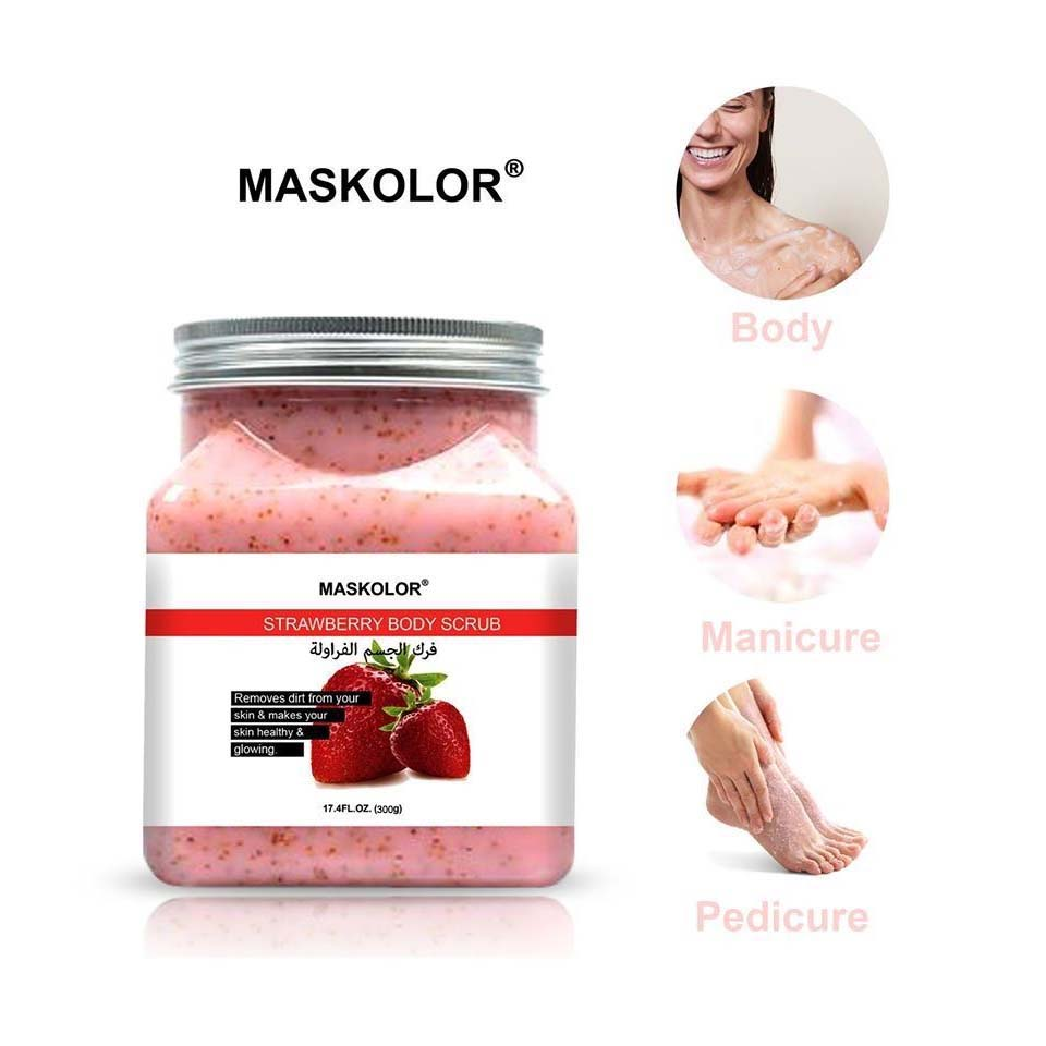 Maskolor Strawberry Body Scrub - 300gms